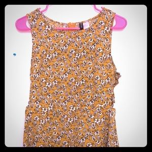 Yellow h&m sundress with ties on the side